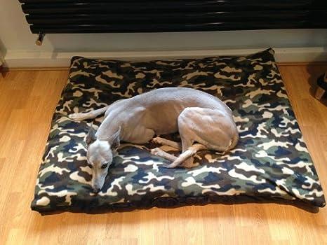 kosipet® Camuflaje Forro Polar mediano romboide Memory Foam Pad Deluxe impermeable cama para perro,