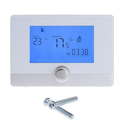 Termostato digital programable para pared con sistema de calefacción de caldera a gas 5A