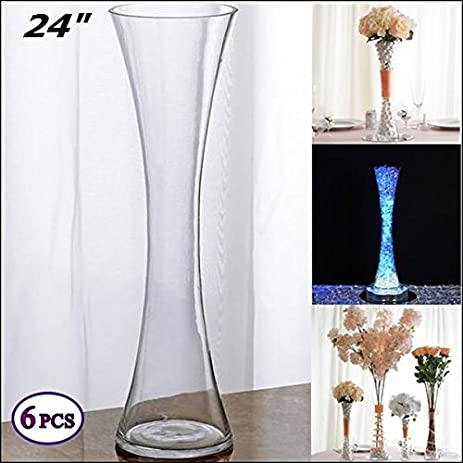 Amazon Efavormart 24 Tall Clear Hourglass Shaped Floral Vase