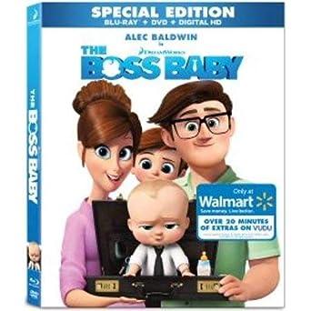 Amazon Com The Boss Baby Blu Ray Dvd Digital Hd Walmart Exclusive Artwork Movies Tv