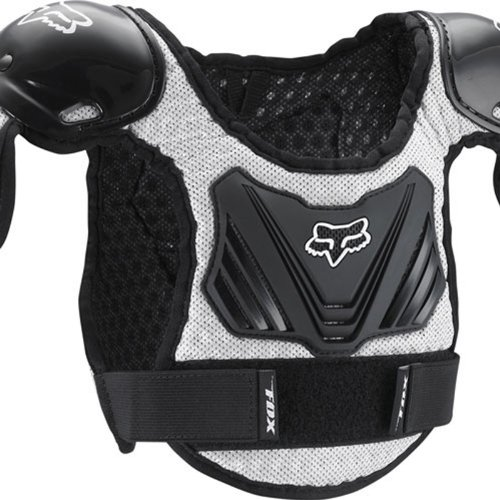 Fox Racing Pee Wee Titan Roost Deflector - Youth Small/Medium/Black/Silver