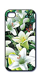 Dimension 9 3D Lenticular iPhone 5/5s Cell Phone Cover - Retail Packaging - White Lily Field