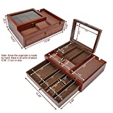Homde Dresser Valet Organizer Wood Mens Storage Box
