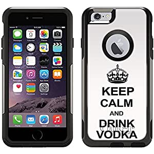 Skin Decal for Otterbox Commuter Apple iPhone 6 Case - KEEP CALM and Drink Vodka on White