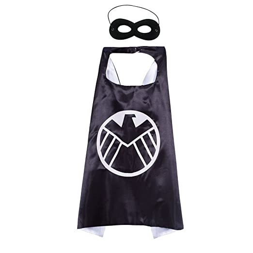 amazon com superhero cape felt masks cosplay costume for kids dress