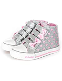 Toddler/Little Kid Girls Glitter Bow Sneakers