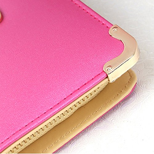Eysee - Cartera de mano de poliuretano para mujer rosa (b)