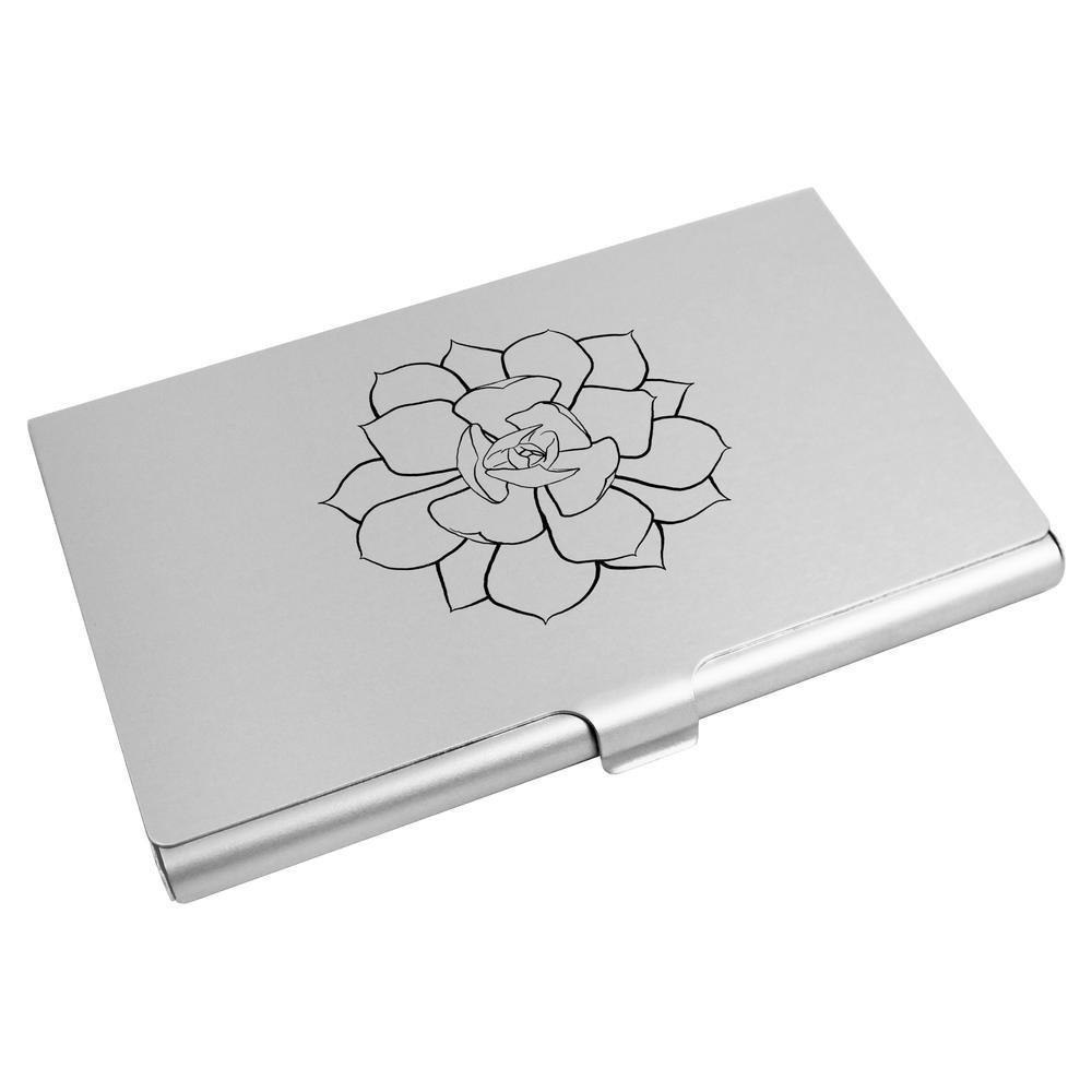 Azeeda 'Fleur de Lotus' Porte Carte de Visite / Porte Carte de crédit (CH00010077)