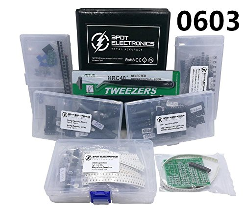 XL SMD 0603 Electronic Component Assortment Kit, Resistors, Capacitors, Diodes, Zener, Regulator, Transistor, SOT-23, SOT-89,TO-252, 6480 pcs