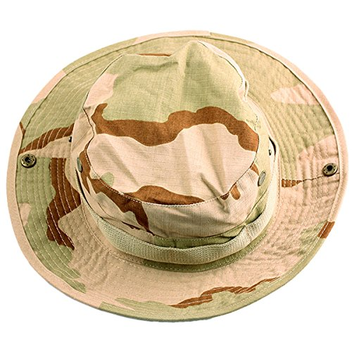 squaregarden Military Camo Adjustable Boonie Hat Hunting Bucket Hats / Desert Camo