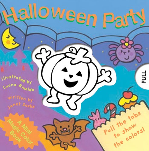 A Mini Magic Color Book: Halloween Party (Magic Color (Halloween Mini Books For Kindergarten)
