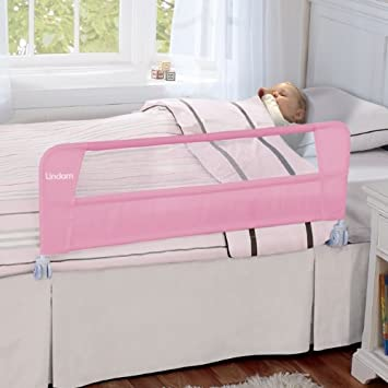 Lindam Safety Toddler Bed Guard Pink
