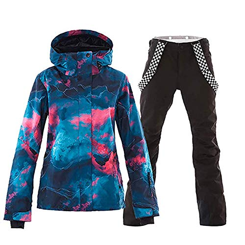 cc5d55dd2a 2018 Women s Ski Jacket and Pants High Windproof Waterproof Technology Snow  Insulated Jacket Set