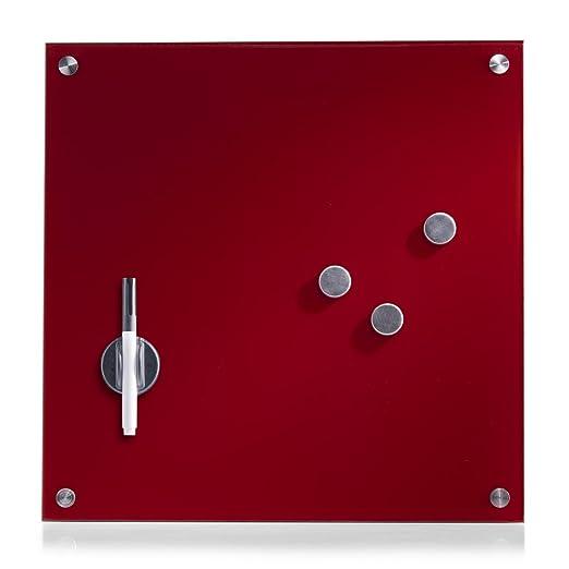 114 opinioni per Zeller 11604 Lavagnetta magnetica in vetro, 40 x 40 cm, colore: Rosso
