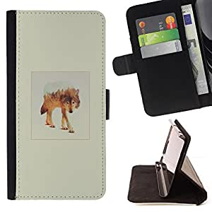 Jordan Colourful Shop - White Wolf Mountain For Sony Xperia Z2 D6502 - Leather Case Absorci???¡¯???€????€??????????