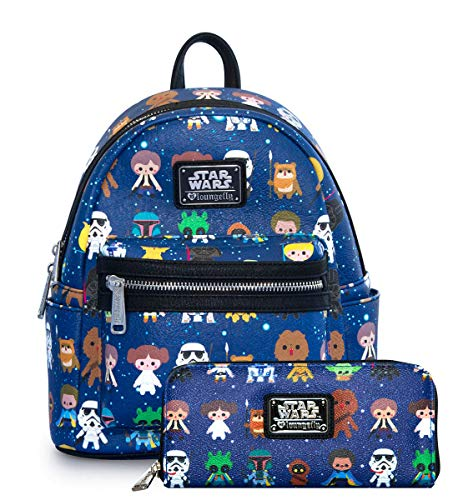 Loungefly Star Wars Baby Character Mini Backpack and Wallet Set ()