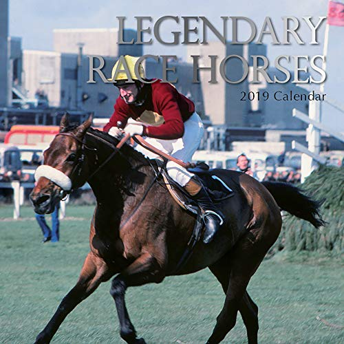 2019 Wall Calendar - Legendary Race Horses Calendar, 12 x 12 Inch Monthly View, 16-Month, Horse Racing Sports Theme, Includes 180 Reminder Stickers
