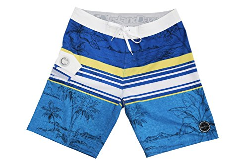 College Basketball Mesh Shorts - ISLAND DAZE BBO - Mens Bottle Opener Boardshort Surf, Swim Tailgate Quick Dry Swim Trunks …