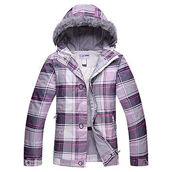 Zjsjacket Traje de Esqui Chaqueta de esquí de Invierno Pantalones para Mujer Traje Impermeable Chaqueta de