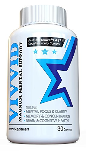 VIVVID - Brain Supplement for Memory and Focus - With neuroPLAST-9 Cognitive Acuity Complex - Improve Information Input and Output, Plus Concentration - for Men and Women