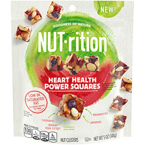 - NUTrition Heart Health Power Squares Nut Clusters, 5 oz
