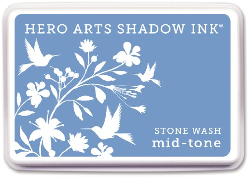 Hero Arts Rubber Stamps AF211 Shadow Ink Mid-Tone, Stone, Wash
