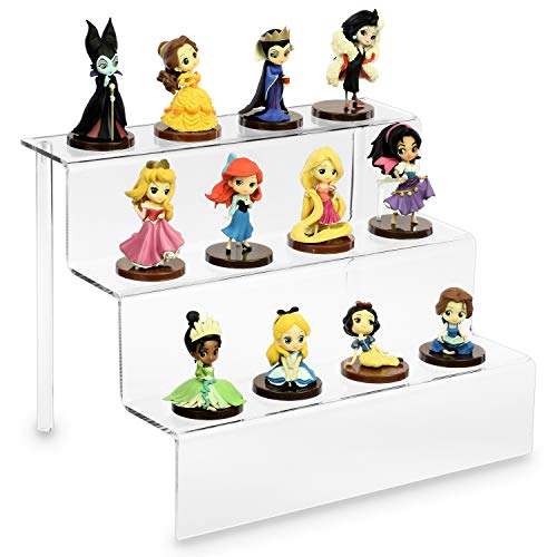 Ikee Design Acrylic Riser Display Shelf for Cupcakes Stand for Cabinet, Countertops 12