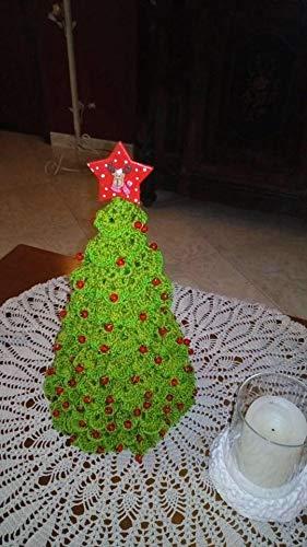Albero Di Natale Uncinetto Cotone Verde Amazonit Handmade