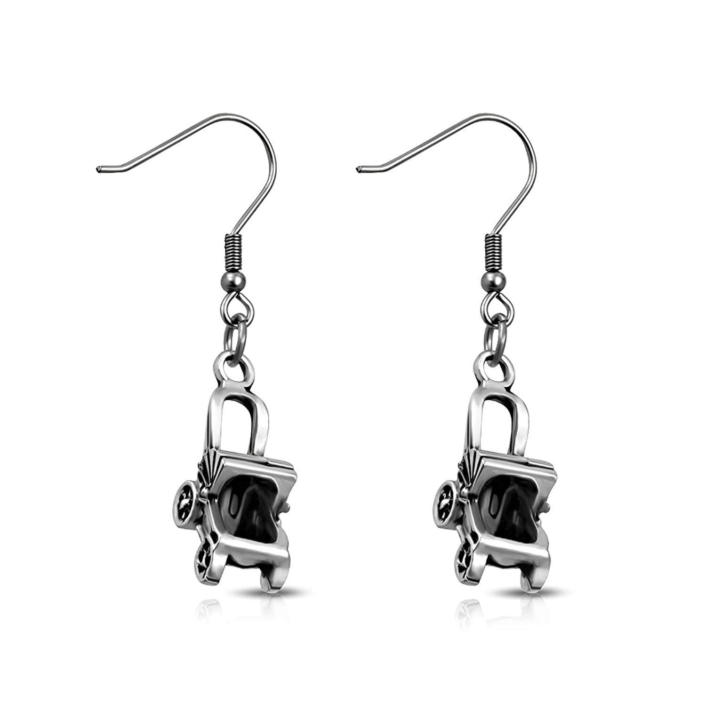 925 Sterling Silver Rhodium-plated Laser-cut University of Virginia XS Post Earrings