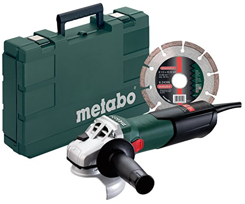 Metabo W9-115 Kit 8.5 Amp 10500 rpm Angle Grinder Kit with C