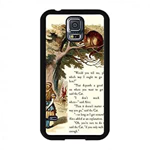 Alice and Cheshire cat,Popular Disney Alice in Wonderland Phone Cover teléfono celular Funda/caso teléfono celular/funda,TPU Protection teléfono celular Funda/caso teléfono celular/funda for Samsung Galaxy S5