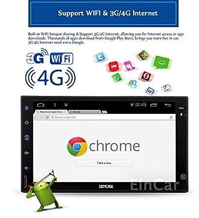 EinCar Android 5.1 OS GPS de navegaciš®n tš¢ctil capacitiva ESTšŠreo Coche de la Pantalla en el Tablero de Unidades Principales del Coche NO DVD-Player ...