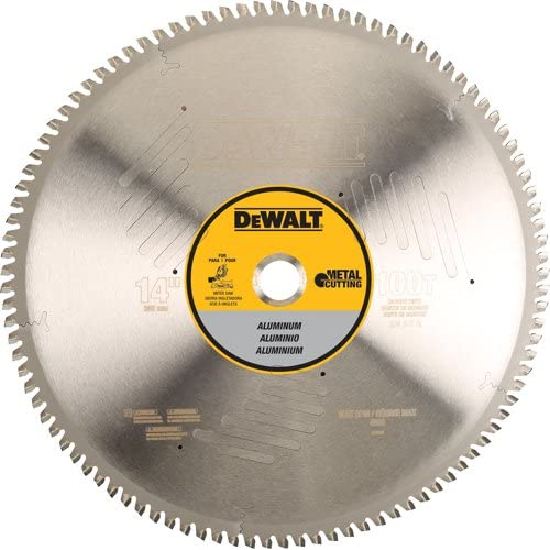 Image of DEWALT DWA7889 100 Teeth Aluminum Cutting 1-Inch Arbor, 14-Inch Home Improvements