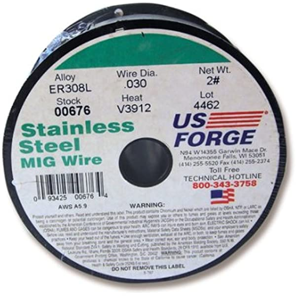 Us Forge Welding Stainless Steel Mig Wire 030 2 Pound Spool 00676 Steel Stainless Steel Mig Welding Wire Amazon Com