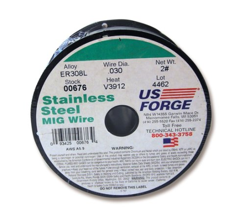 US Forge Welding Stainless Steel MIG Wire .030 2-Pound Spool #00676