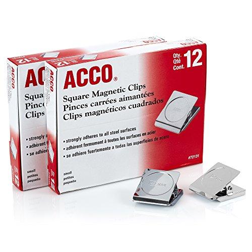 ACCO Square Magnetic Clip, 1-1/2