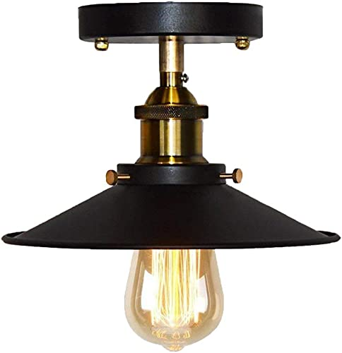 LANTU CREATIVE Ceiling Light,Modern Vintage Industrial Metal Black Bronze Loft Bar Ceiling Light Shade Retro Pendant Light