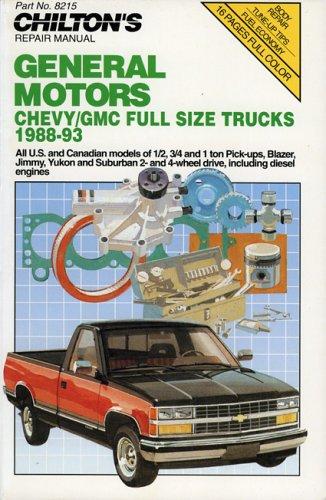 Chilton S Chevy GMC Full Size Trucks 1988 93 Repair Manual