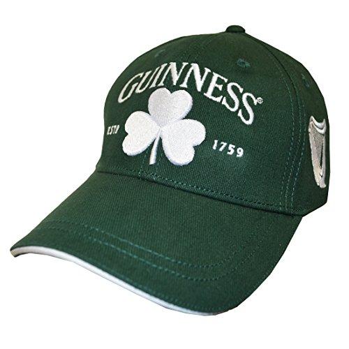 Guinness Baseball (Bottle Green Guinness Baseball Cap with White Shamrock Design)