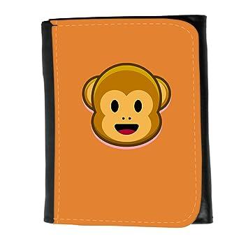 Cartera para hombre // Q05210623 Monos emoji 1 Naranja de cadmio // Small Size Wallet: Amazon.es: Electrónica