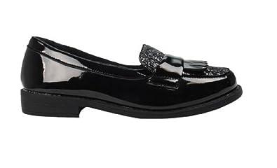 GladRags Girls Slip On Black Patent School Shoes Size 13 1 2 3 4 5 Infant 21b532592