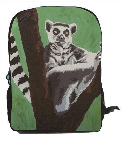 Lemur Backpack Lemur Book Bag - From My Original Painting Sassy Socialite [並行輸入品]   B078WWLD99