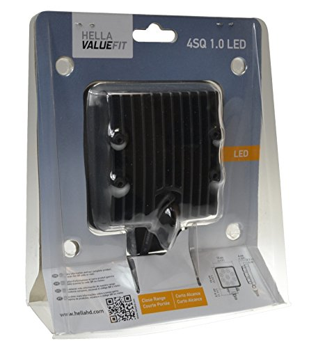 Black HELLA 357103002 ValueFit 4 Square 1.0 LED Close Range Worklight