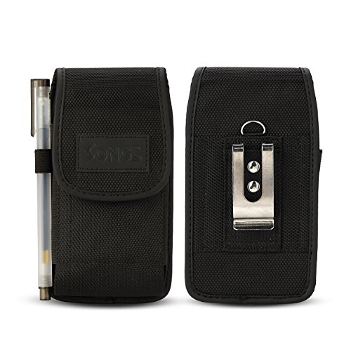 Phone Nokia Stylus (for LG G7 ThinQ/LG V35 ThinQ/LG Q Stylus/LG Stylo 4/Motorola Moto Z3 Play/Asus ROG Phone/Nokia 5.1/2.1/OnePlus 6 case, Kiki Premium PU Leather Pouch Case Belt Clip Holster)