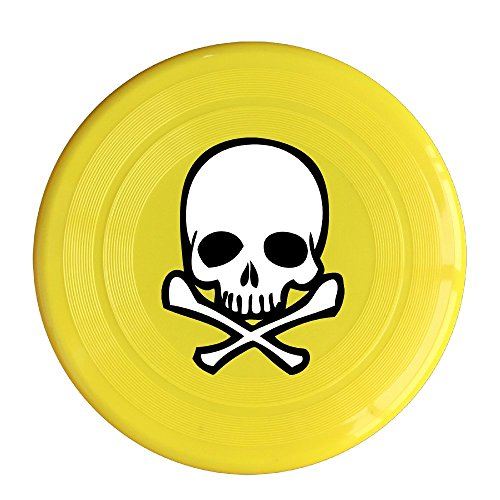 LINNA Unisex Head Skull With Crossbone Outdoor Game, Sport, Flying Discs,Game Room, Light Up Flying, Sport Disc ,Flyer Frisbee,Ultra Star Yellow One Size