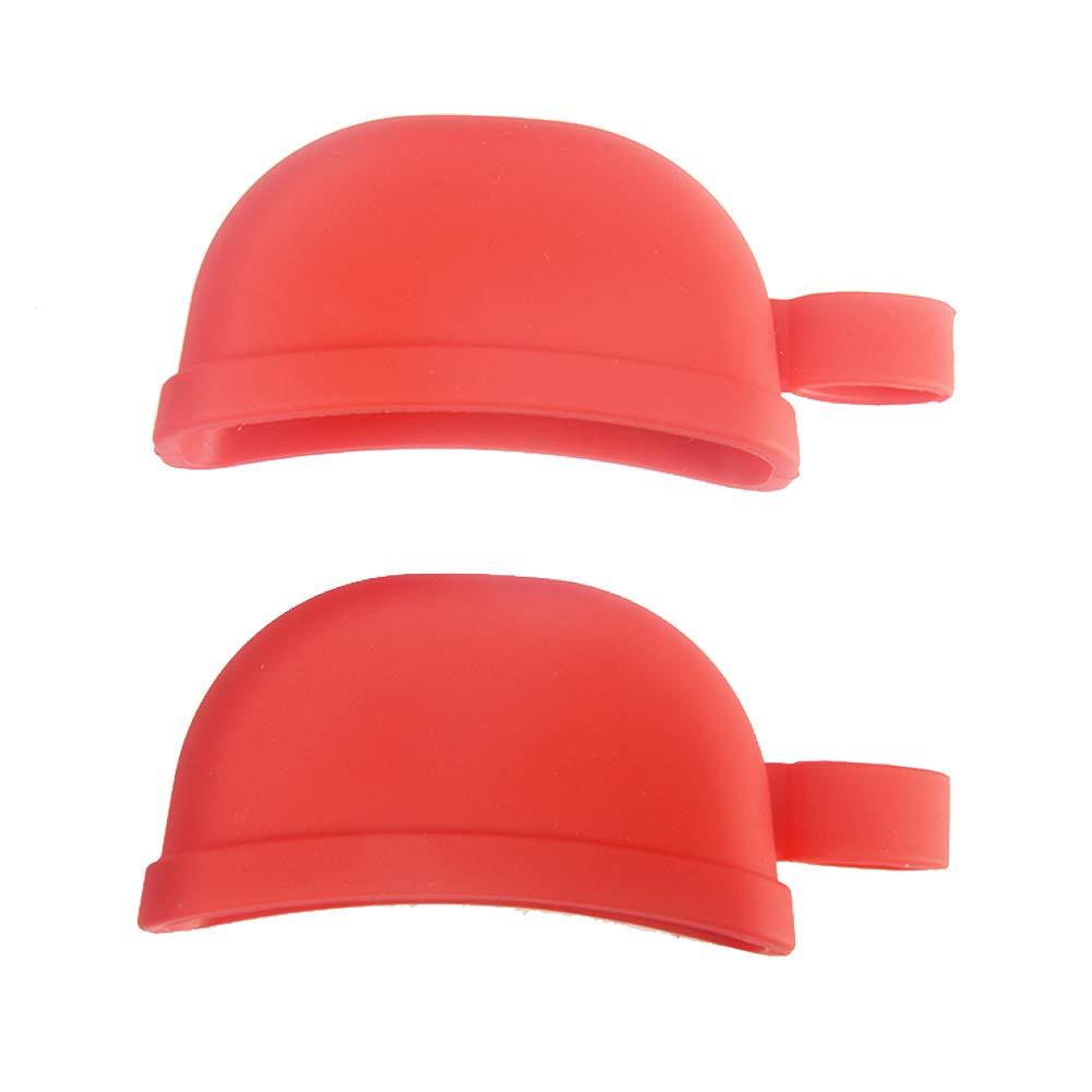 2pcs//Set Silicone Hot Pot Handle Cover Heat Resist Silicone Lid Cover Holding Knob Handle Holder Finger Scald Prevent Kitchen Random Color
