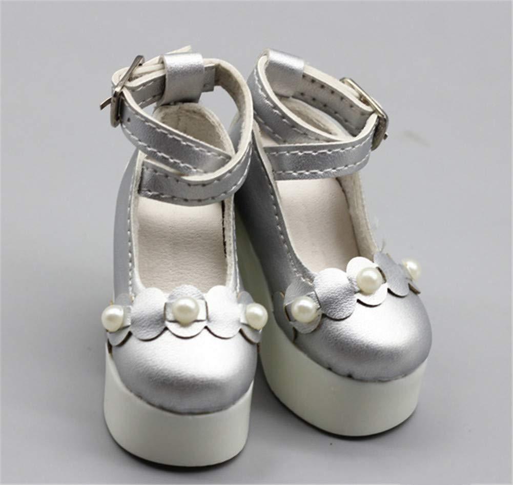 Fully 3 Pares de Zapatos de tac/ón Alto para mu/ñecas de 60 cm y 23 Pulgadas
