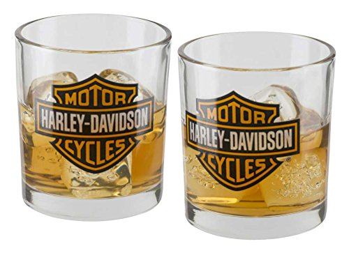 Harley-Davidson Core Bar & Shield Double Old Fashioned Set - 10 oz. HDX-98707
