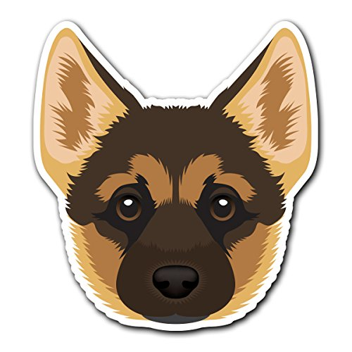 German Shepherd - [CUSTOMI] Dog Breed Decal Sticker for Car Truck Macbook Laptop Air Pro Vinyl ()