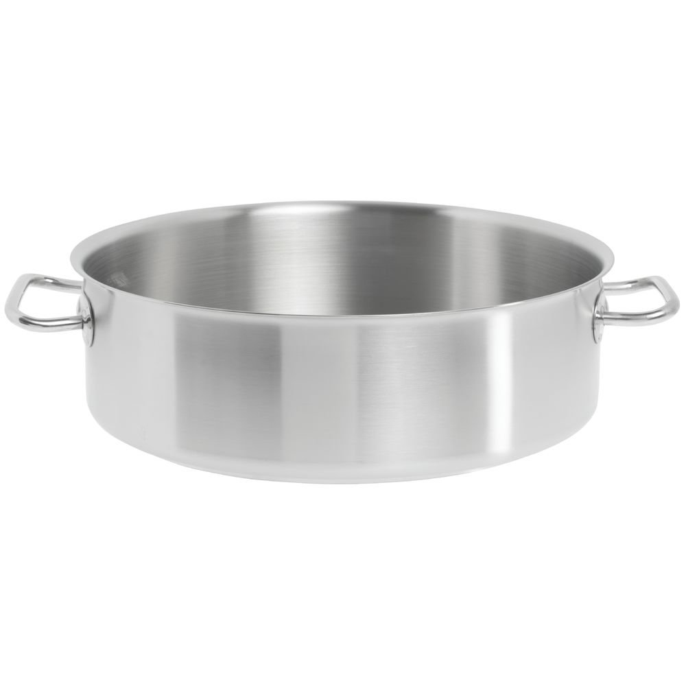 Vollrath Jacob's Pride Intrigue 12 qt Stainless Steel Brazier - 14 1/16''Dia x 4 3/8''H